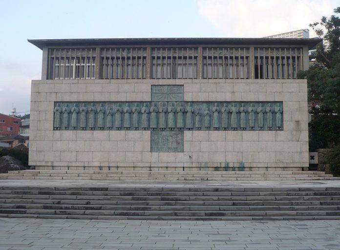 Nagasaki: Monumento ai martiri San Miki e compagni (Foto: Alex Tora - Wikimedia Commons