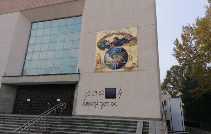 Chiesa vandalizzata in Polonia