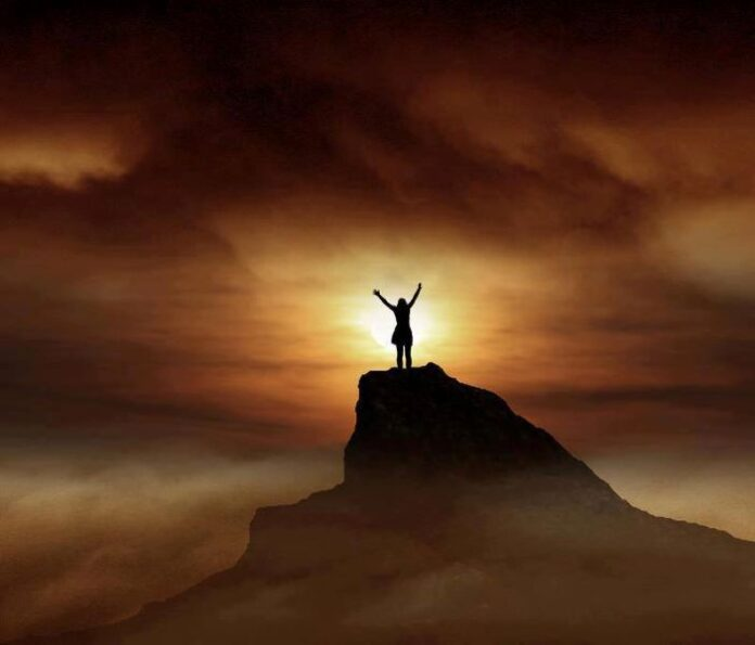 lode, buio, preghiera, Dio, fede, monte,