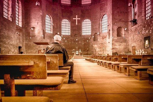 chiesa, pregare, silenzio, orazione