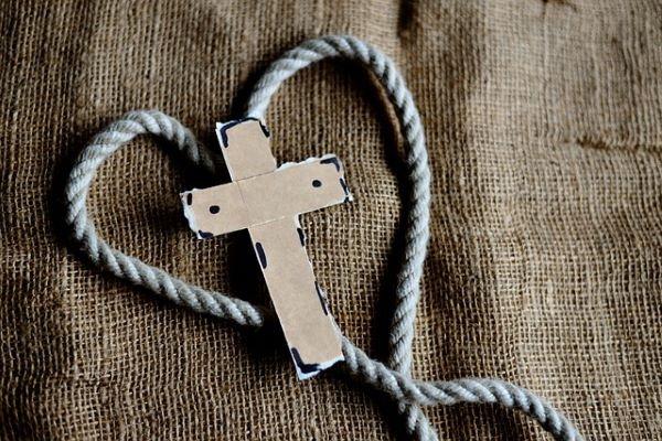 cuore, croce, passione, preghiera